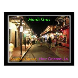 Carte Postale Mardi gras de rue de Bourbon, la Nouvelle-Orléans,