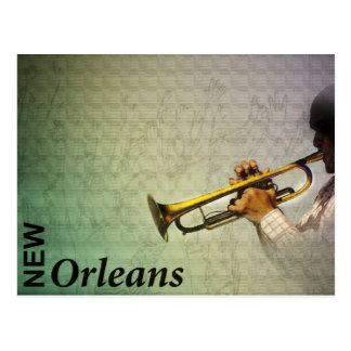Carte Postale Mardi gras et jazz Photomanipulation de la