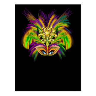 Carte Postale Mardi-Gras-Mask-The-Queen-V-2
