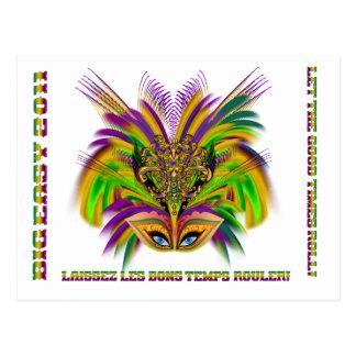 Carte Postale Mardi-Gras-Mask-The-Queen-V-3