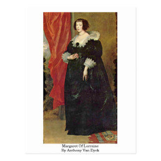 Carte Postale Margaret de la Lorraine par Anthony Van Dyck