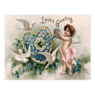 Carte Postale Marguerite de clé de colombe de myosotis de