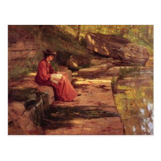 Carte Postale Marguerite par la rivière par Theodore Steele