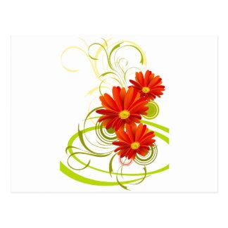 Carte Postale Marguerite rouge de Gerbera