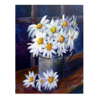 Carte Postale Marguerites blanches