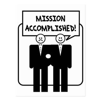 """Carte Postale Mariage accompli """"par mission"""" (homosexuel)"""