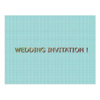 Carte Postale Mariage-Carte-Invitation-Élégant-Bleu-Modèle