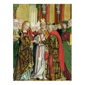 Carte Postale Mariage de la Vierge, de l'autel de dôme, 1499