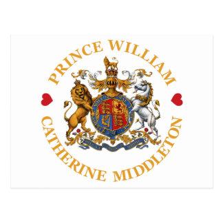 Carte Postale Mariage de prince William et Catherine Middleton