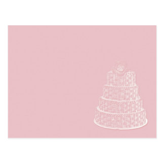 Carte Postale mariage élégant