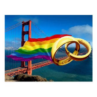 Carte Postale Mariage homosexuel San Francisco