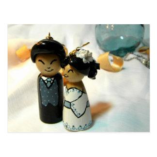 Carte Postale Mariage I de Kokeshi