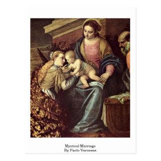Carte Postale Mariage mystique par Paolo Veronese