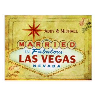 Carte Postale Marié à Las Vegas fabuleux - cru