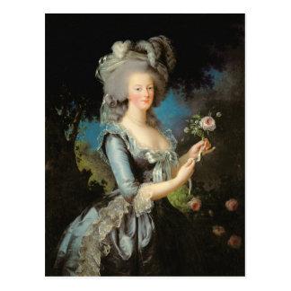 Carte Postale Marie Antoinette avec un rose, 1783