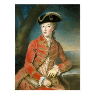Carte Postale Marie Antoinette dans le vêtement de chasse par