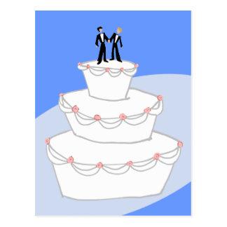 Carte Postale Mariés du gâteau de mariage deux