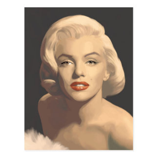 Carte Postale Marilyn grise graphique
