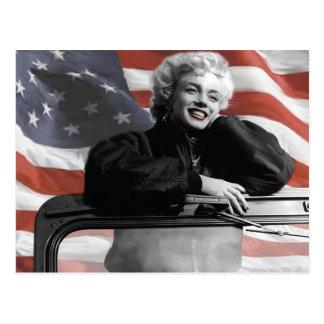 Carte Postale Marilyn patriote