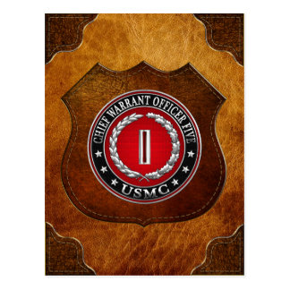 Carte Postale Marines des USA : Garantie en chef cinq (usmc