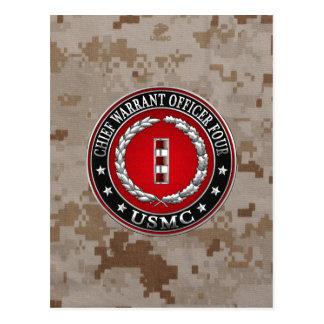 Carte Postale Marines des USA : Garantie en chef quatre (usmc