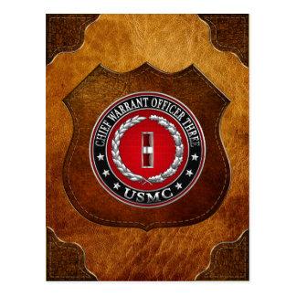 Carte Postale Marines des USA : Garantie en chef trois (usmc