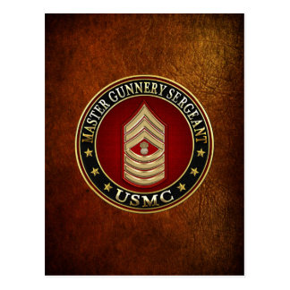 Carte Postale Marines des USA : Sergent d'artillerie principal