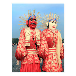 Carte Postale Marionnettes Jakarta d'Ondel Ondel