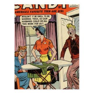 Carte Postale Maris et travaux domestiques