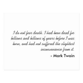 Carte Postale Mark Twain
