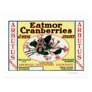 Carte Postale Marque de canneberges d'Eatmor d'Arbutus