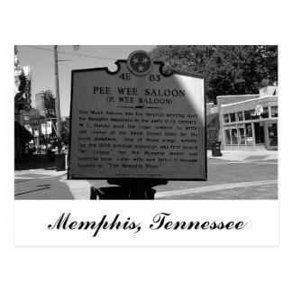 Carte Postale Marqueur historique Memphis Tennessee de salle