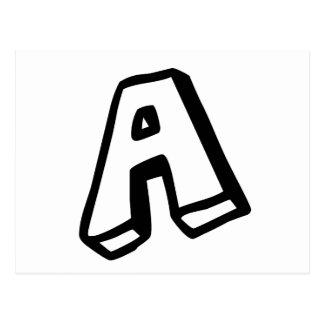 """Carte Postale Marquez avec des lettres """"A """""""