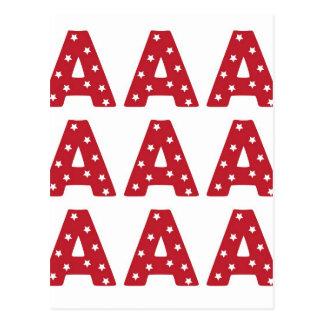Carte Postale Marquez avec des lettres A - Étoiles de blanc sur