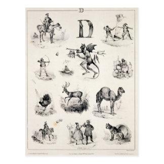 Carte Postale Marquez avec des lettres D d'une amorce