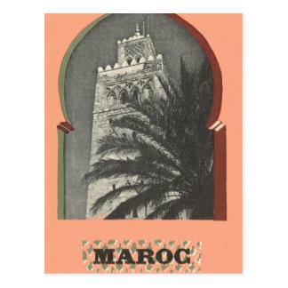 Carte Postale Marrakech vintage, Maroc,