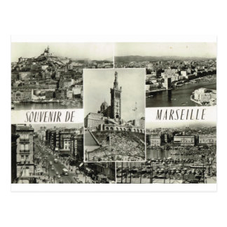 Carte Postale Marseille, multiview tôt