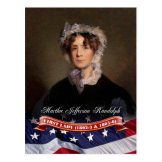 Carte Postale Martha Jefferson Randolph, première Madame des