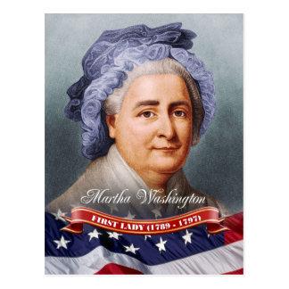 Carte Postale Martha Washington, première Madame des États-Unis