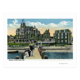 Carte Postale Martha's Vineyard, vue de pilier de la Chambre de