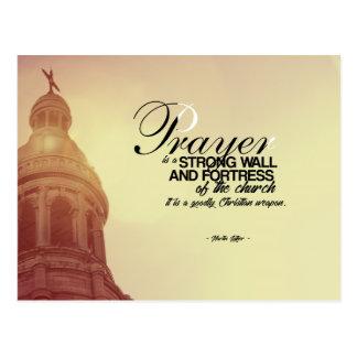 Carte Postale Martin Luther - prière