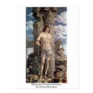 Carte Postale Martyre de saint SebastiAn par Andrea Mantegna