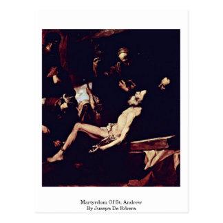 Carte Postale Martyre de St Andrew par Jusepe De Ribera