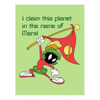 Carte Postale MARVIN la planète de revendication de MARTIAN™