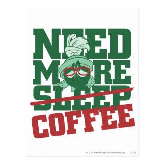 Carte Postale MARVIN le MARTIAN™ - ayez besoin de plus de café