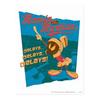 Carte Postale MARVIN que les retards de retards de MARTIAN™……