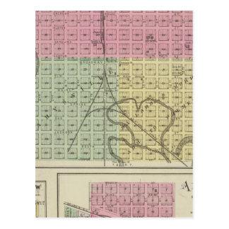 Carte Postale Marysville, Bigelow, et Axtell, le Kansas