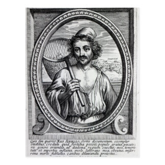 Carte Postale Masaniello, gravé par Petrus de Iode