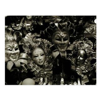 Carte Postale Masque de carnaval de Venise de mardi gras