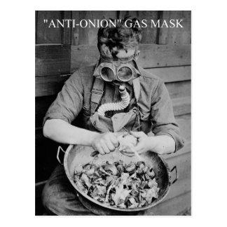 Carte Postale masque de gaz d'Anti-oignon